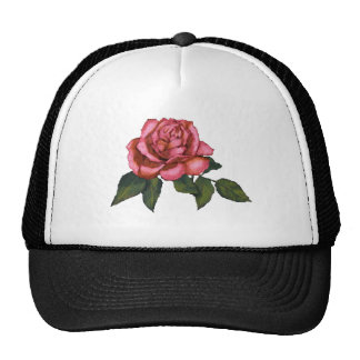 Single Pink Rose: Color Pencil Drawing: Art Cap