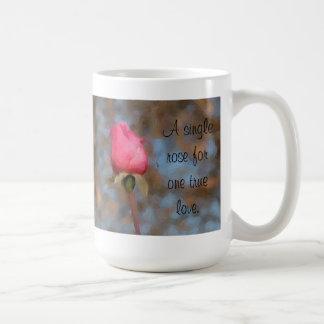 Single Pink Rose Mug