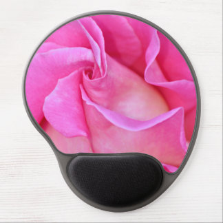 Single pink rose petals gel mousepad