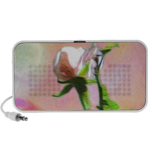 Single Pink Rose Portable Speakers