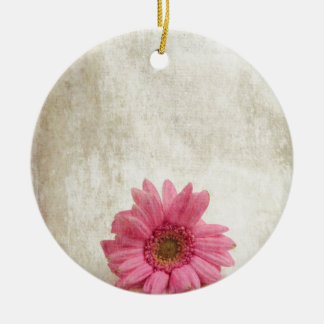 Single Pink Round Ceramic Decoration