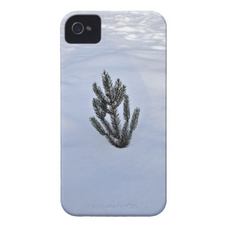 Single plant in a snowy landscape iPhone 4 case