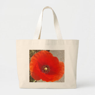Single Poppy Jumbo Tote Bag
