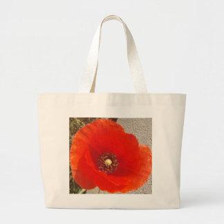 Single Poppy Large Tote Bag