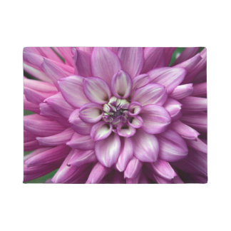 Single purple dahlia flower doormat