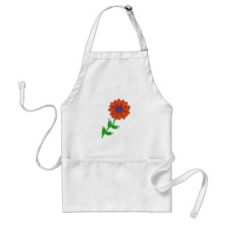 Single Red Flower Apron