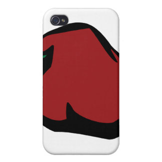Single Red Habanero Graphic Cover For iPhone 4