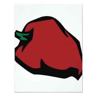 Single Red Habanero Graphic Custom Invitation