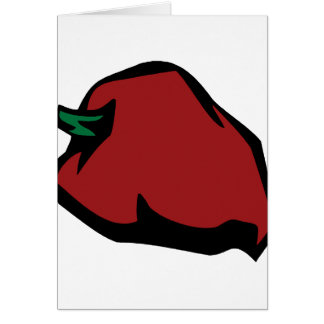 Single Red Habanero Graphic Note Card