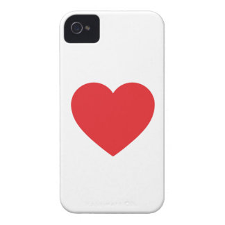 Single Red Heart iPhone 4 Case-Mate Barely There iPhone 4 Case-Mate Cases