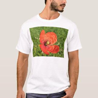 Single Red Poppy in Garden T-Shirt