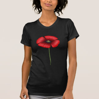 Single Red Poppy T Shirts