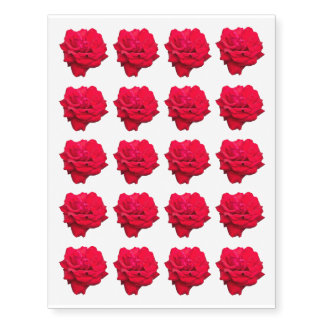 """Single Red Rose Approx. 2"""" Temporary Tattoos"""