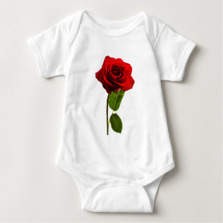 """Single red rose"" Baby Bodysuit"
