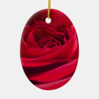 Single Red Rose Christmas Ornament