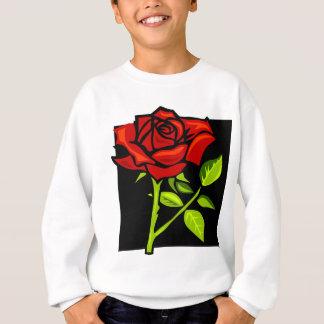 Single Red Rose in Full Bloom Sweatshirt