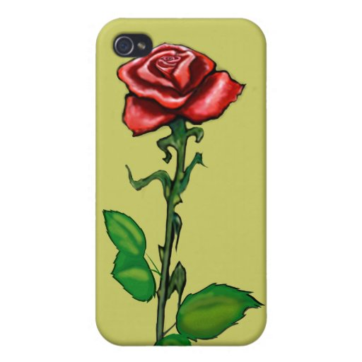 Single Red Rose iPhone 4 Cover