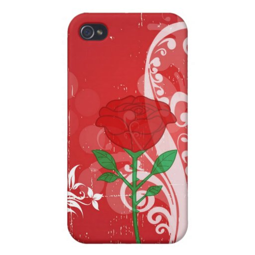 Single Red Rose Pictures Design iPhone 4/4S Cover