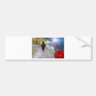 single rose_PAINTING equalized.jpg Bumper Sticker