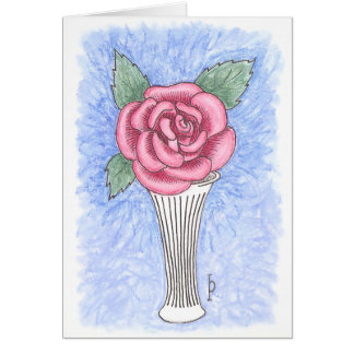 Single Rose - Pastels Note Card