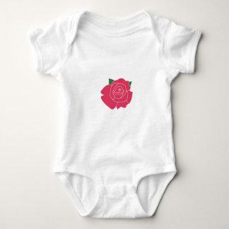 Single Rose Vest Baby Bodysuit