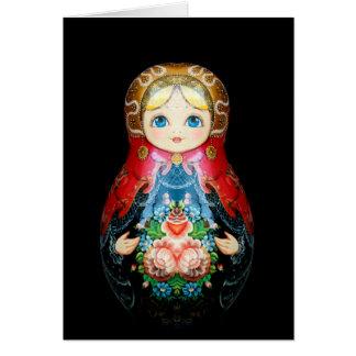 Single Russian doll Card
