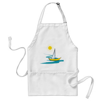 Single sailboat standard apron