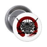 Single Samurai Enso Blood Circle 6 Cm Round Badge