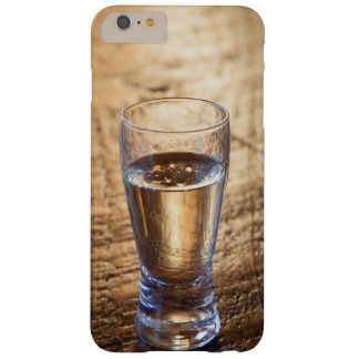 Single shot of Tequila on wood table Barely There iPhone 6 Plus Case