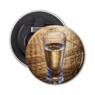 Single shot of Tequila on wood table Bottle Opener