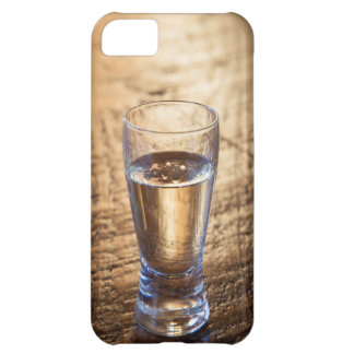 Single shot of Tequila on wood table iPhone 5C Case