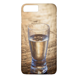 Single shot of Tequila on wood table iPhone 8 Plus/7 Plus Case