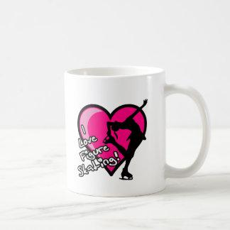 Single Skater, Hot Pink & Black Basic White Mug