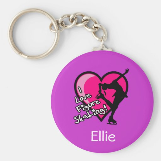 Single Skater, purple - Add Your Name KeyChain