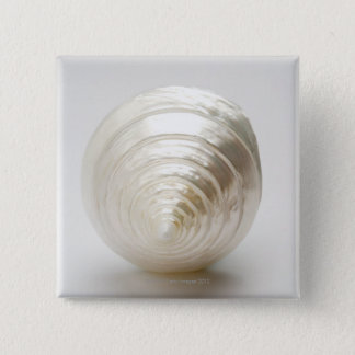 Single spiral seashell 15 cm square badge