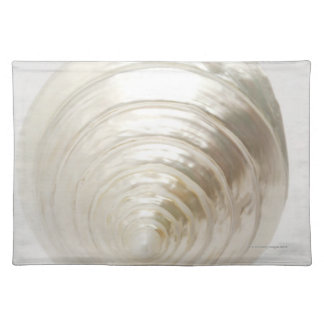 Single spiral seashell placemat