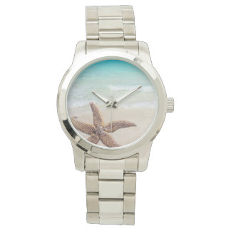 Single Starfish Beach Scene Watch