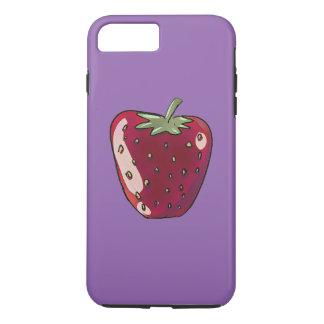 single strawberry cartoon style illustration iPhone 7 plus case