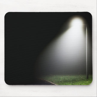 Single street light at night - Mouse mat