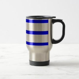 Single Stripe - Blue on White Mugs