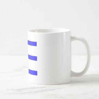 Single Stripe - Blue on White Mug