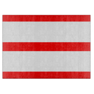Single Stripe - Red on White Cutting Boards