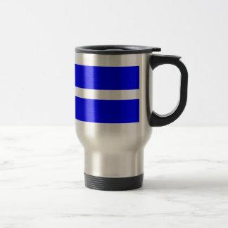 Single Stripe - White on Blue Mug