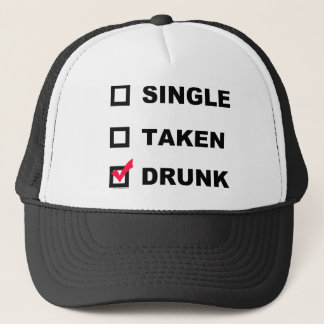 Single | Taken | Drunk - funny hat