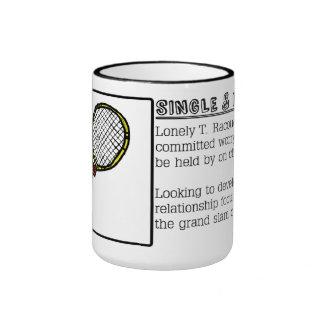 Single Tennis Raquet Ad Coffee Mug