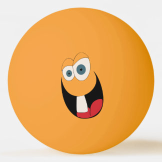 Single Tooth Funny Face Ping Pong Ball