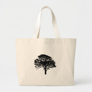 Single Tree Silhouette Canvas Bags
