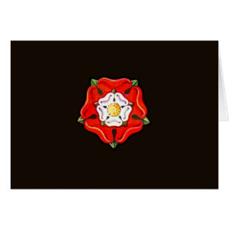 Single Tudor Rose Card