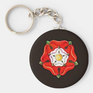 Single Tudor Rose Key Chains
