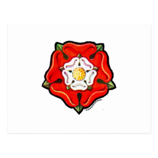 Single Tudor Rose Postcard